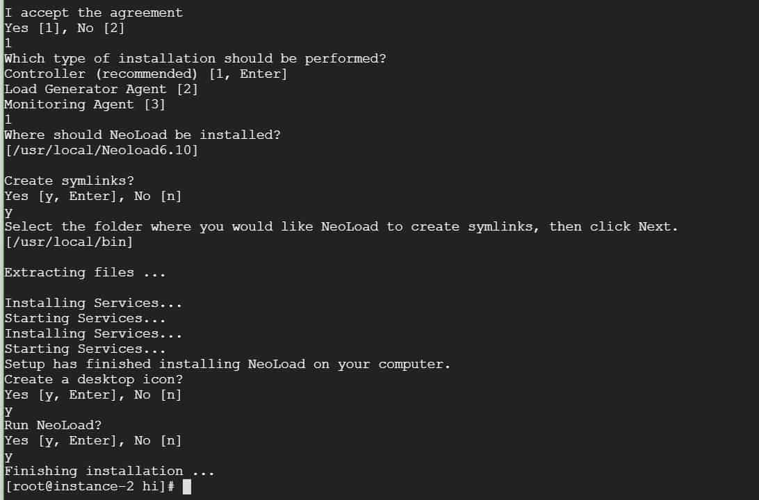 Linux Neoload Installation Step 2