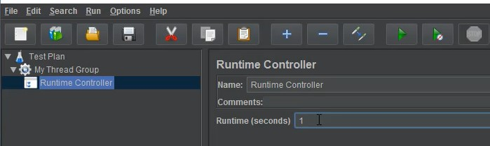 Elements of Test Plan - Runtime Controller