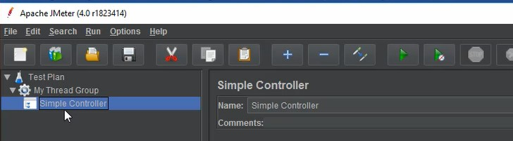 Elements of Test Plan - Simple Controller