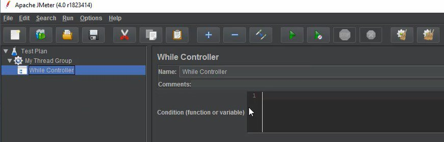 Elements of Test Plan - While Controller