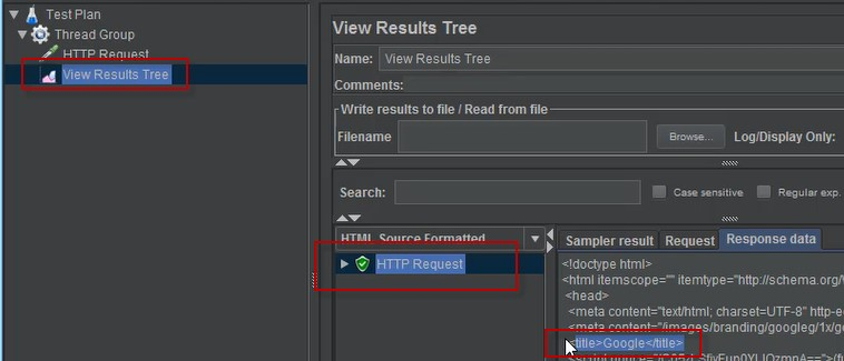 Response Assertion - View Results Tree