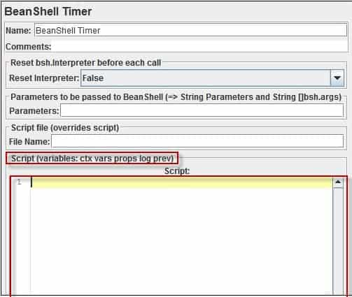 Timers in JMeter - Bean Shell Timer