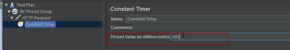Timers in JMeter - Constant Timer 2
