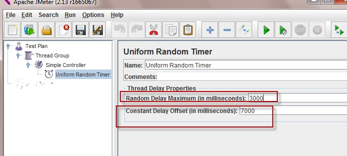 Timers in JMeter - Uniform Random Timer