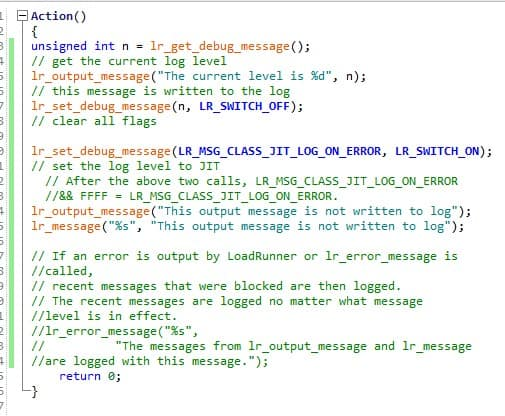 lr_set_debug_message Example 2