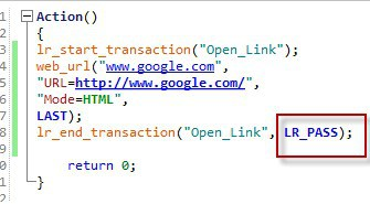lr_end_transaction Example1