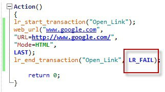 lr_end_transaction Example 4